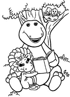 barney coloring pages for kids - Barney Coloring Pages