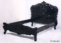 Baroque bed frame.... I think I would like to have one of these....
