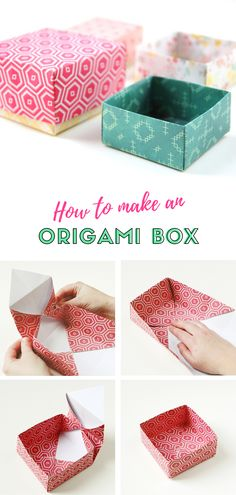 HOW TO FOLD AN ORIGAMI GIFT BOX.