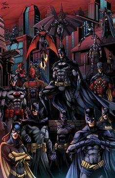 Bat-Family by phil-cho.deviantart.com on @deviantART