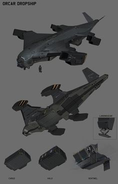 ironsight_orcar dropship concept, bok jeong soon – dropshipping Space Ship Concept Art, Concept Ships, Robot Concept Art, Weapon Concept Art, Spaceship Art, Spaceship Design, Futuristic Technology, Futuristic Cars, Drone Technology