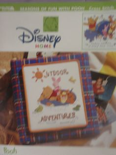 Cross Stitch Patterns-Disney Home-Pooh Collection-Outdoor Adventures-Seasons