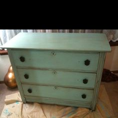 Very old dresser. New paint and new knobs!!