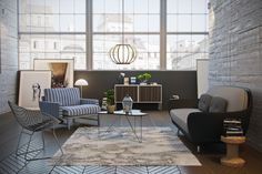 3d interior that i did for showcase some of my latest 3d models, favn sofa, bertoia chair, in many others :)