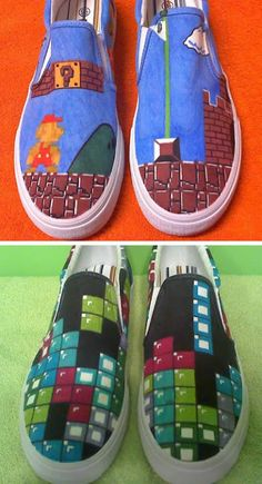 Video game awesomeness in shoes :O