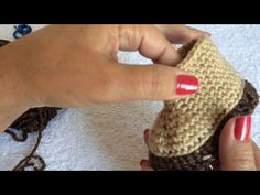 YouTube Booties Crochet, Baby Booties, Baby Shoes, Diy Crochet, Crochet Baby, American Girl Dress, Everything Baby, Crochet Videos, Fingerless Gloves