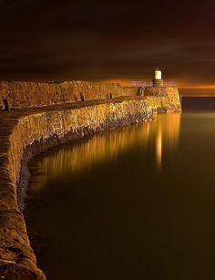 Pittenweem's 400 year old pier, Scotland