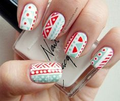 aztec nail art - Google Search