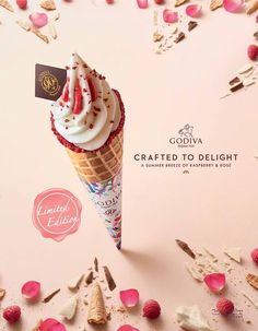 "sweet visual that successfully portrays ""sweetness"" in multiple ways Food Graphic Design, Menu Design, Ad Design, Banner Design, Flyer Design, Layout Design, Design Posters, Packaging Design, Branding Design"