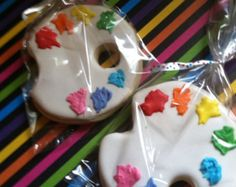Rainbow Cookies 2 Dozen by sugarlandsweets on Etsy