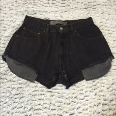 High Rise Shorts PUSH OFFER BUTTON! Urban Outfitters Black High Rise Shorts. Size 28. Faded Denim. New (:                                                                            Payment through Mercari, PayPal, or venmo if possible! Remember Poshmark takes 20% Make offers! Brandy Melville Shorts Jean Shorts