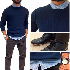 pulls for men inspiration grid style outfits mens outfit men's fashion style inspiration casual style Gq, Mode Outfits, Fashion Outfits, Casual Outfits, Celebridades Fashion, Herren Outfit, Mens Style Guide, Style Men, Men's Style
