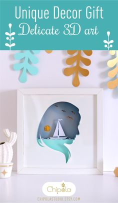 Awesome gift for craft lovers and for home decor lovers. Assemble yourself using IKEA frame. #ikeahack #chipola #paperdesign #shadowbox
