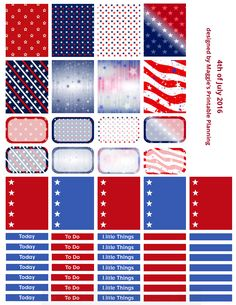 Maggie's Printable Planning is creating Printable Planner Stickers | Patreon july 4th