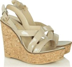 Beige Patent Pavillion Wedge Sandal #Wedges #Daniel Footwear #fashion #obsessory #fashion #lifestyle #style #myobsession