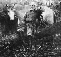 This is a picture of General Robert E Lee with Traveler.