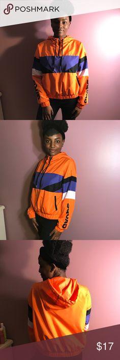 "Orange ""squad"" Windbreaker Never worn ""squad"" orange windbreaker, tag removed #new #windbreaker #fall #squad #forever21 #trendy #women #medium #90s Forever 21 Tops Sweatshirts & Hoodies"