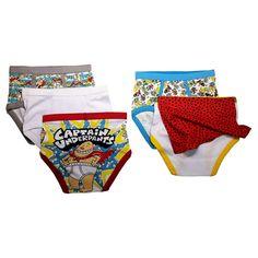Boys' Captain Underpants 5pk Classic Briefs - Multi-Colored 6, Boy's, Multicolored