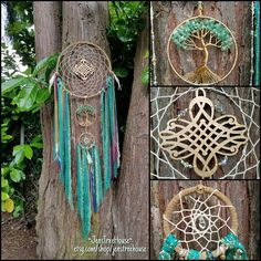Green Tree of Life Dream Catcher/Wall Hanging/Room Decor/Green