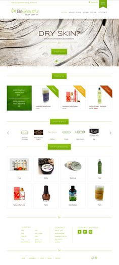 Clean, Green Website Design || Be Beautiful Salon and Spa - Array Web + Creative. Also, amazing organic shampoo by Onesta that I use daily. Shop their store!