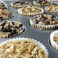 Baked Oatmeal To Go-- Instead of granola bars! @keyingredient #honey #muffins #chocolate