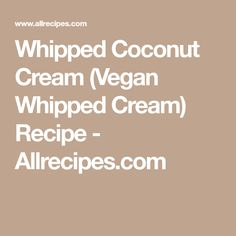 Whipped Coconut Crea...