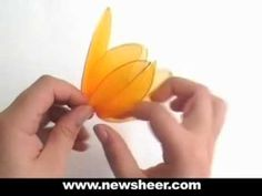 How to make a nylon Tulip--I need to make a bunch of white ones to display near our wedding pictures.