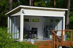 Grillikatokset ja huoneet | Huone1 Summer Garden, Home And Garden, Studio Shed, Summer Cabins, Outdoor Kitchen Bars, Backyard Bar, Pergola Patio, Terrace Garden, Outdoor Gardens
