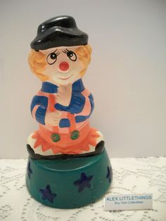 Vintage Happy & Sad Clown Music Box by ALEXLITTLETHINGS on Etsy, $17.99