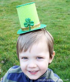 Saint Patrick's Day Crafting: Little Leprechaun Hat Tutorial ~ Creative Green Living