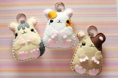 hampster friends!  Felties, my new obsession....