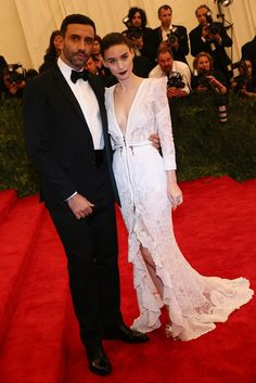 Rooney Mara in Givenchy with Riccardo Tisci at the Met Gala [Photo by Evan Falk]