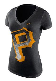 581dc363 Nike Pitt Pirates Womens Black Mezzo V-Neck Nike Shorts Women, Nike Women,
