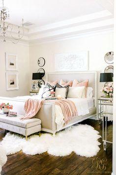 Izzyevanscouk Elegant Bedroom Design Bedroom Decor Regarding Girly Bedroom Ideas Bedroom Decor, Living Room Decor Elegant, Woman Bedroom, Girly Bedroom, Apartment Bedroom Decor, Home Decor, Girly Bedroom Decor, Home Bedroom, Apartment Decor