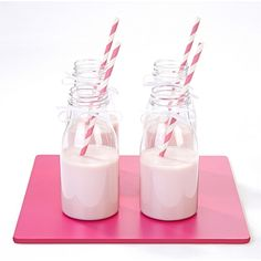 Pink Paper Straws - Pack of 30