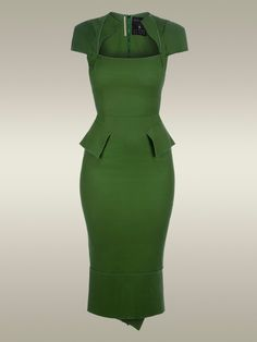 There's nothing like a classy, form fitting, sexy dress that can be worn out to dinner, dancing, the office or even church!  I love the shade of green and the waist and neckline!  This NEEDS to be in my closet!