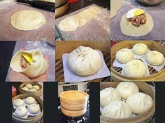 IChinese Steamed Bun -- Shang Yuk Pau (生肉包) been craving for Malaysian Shang Yuk Pau for a long time now. This is my attempts on this pau and is by far the best and . Siopao Filling Recipe, Siopao Recipe, Indian Food Recipes, Asian Recipes, Chinese Recipes, Filipino Recipes, Asian Buns, Steamed Pork Buns, Vietnamese Pork