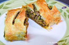Strudel salato con broccoli e carne trita Carne, Strudel, Spanakopita, Ethnic Recipes, Food, Essen, Meals, Yemek, Eten