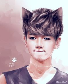 BaekHyun || Cheery Kitten Baekhyun by IridescentJam.deviantart.com on @deviantART