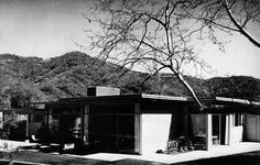 """CSH #3 was designed in 1949 by William Wurster, Theodore Bernardi, and Donald Emmons. It was """"originally intended for the flat area of the La Canada district, [but] was subject to an unavoidable circumstance which changed its location to a two-acre site which opens to views through canyons to the distant mountains."""" Its site in Mandeville Canyon was once a botanical garden. The house appears to have been recently demolished and is now """"on the market for the first time in 57 years."""""""