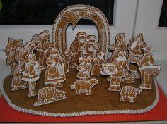I love nativity sets. Christmas Nativity Scene, Christmas Gingerbread, Christmas Cookies, Gingerbread Houses, Nativity Scenes, What Is Christmas, Christmas Holidays, Christmas Crafts, Christmas Ideas