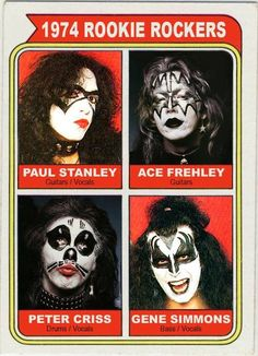 STILL rookie rockers-KISS SUCKS!-Actually, Ace has some talent as a guitarist-but you'll only hear it on his solo cds-Peter does too. Can't stand Gene or Paul-talentless hacks. If Peter and Ace started a band, I'd probably listen. Paul Stanley, Gene Simmons, Rock And Roll Bands, Rock Bands, Metal Bands, Ace Frehley Guitar, Kiss Rock, Eric Singer, Kiss Music