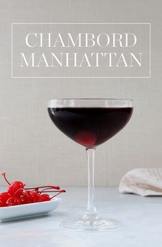 Planning a sit-down event? Treat your guests to a fancy @ChambordUS Manhattan, complete with bitters and maraschino cherries. — via @PureWow