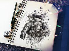 Sketchbook Art 015 Attractive Sketchbook Art by Pierre Yves Riveau