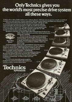 Vintage audio Technics turntable 1976