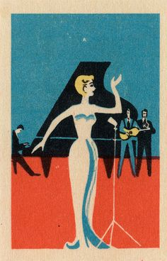 Torch Song from vintage matchbox label at www.completelycatherine.com