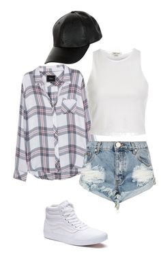 """""""Untitled #529"""" by shabirabirabwa ❤ liked on Polyvore featuring New Look, Rails, One Teaspoon, Vans and River Island"""
