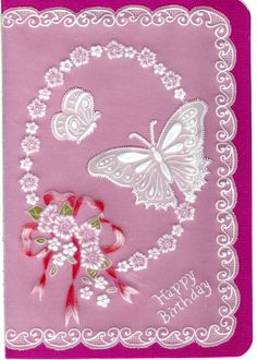 Toni's Birthday Card..  Coloring scanned badly.  The ribbon actually matches the background of the card..  Christine Colemans design Pattern Pack 72