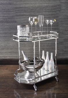 Bar Carts: Wheel in an instant party - or keep it within arm's reach.