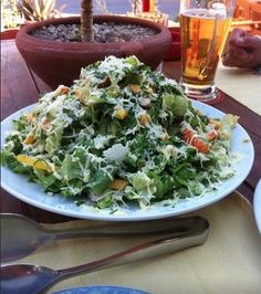 Legendary  Chicken Mango Salad @ Tranquilo   with the  coldest Mythos on the island